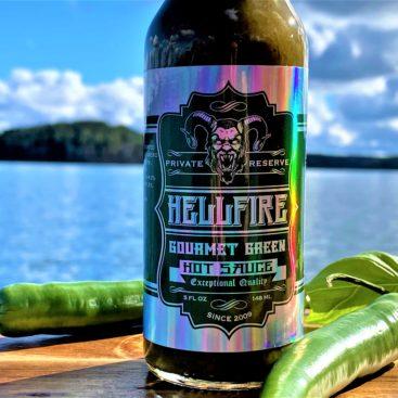 Hellfire Gourmet green sauce